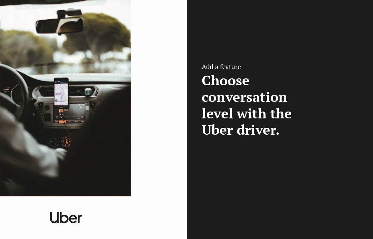 To talk or not to talk with your Uber Driver — a UX case study
