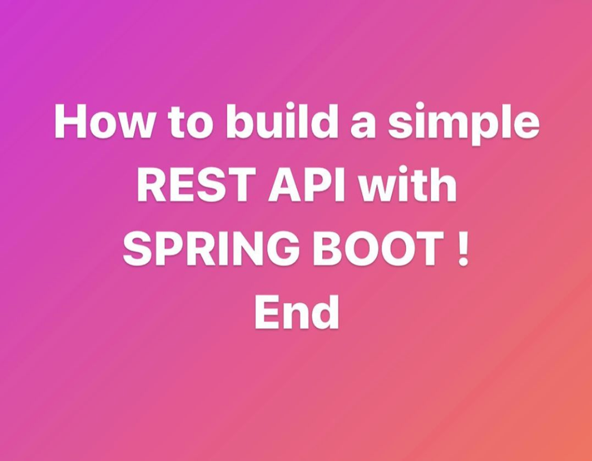Spring Boot REST API in 15 minutes