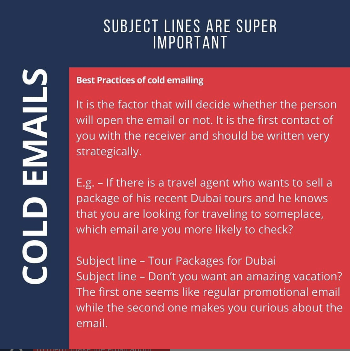 Subject line for cold emails scraper