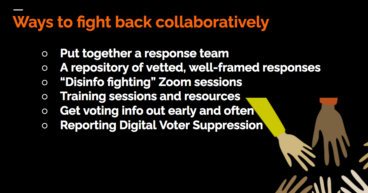 Ways to fight back collaboratively (listed in the article's text)
