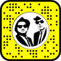 Snapcode to download the Blues Brothers lens