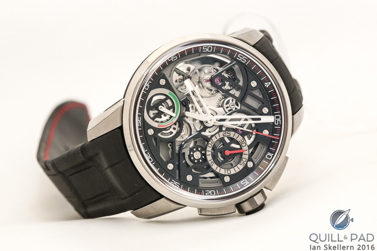 Angelus U30 with tourbillon, flyback split-seconds column wheel chronograph, and a power reserve indicator for good measure
