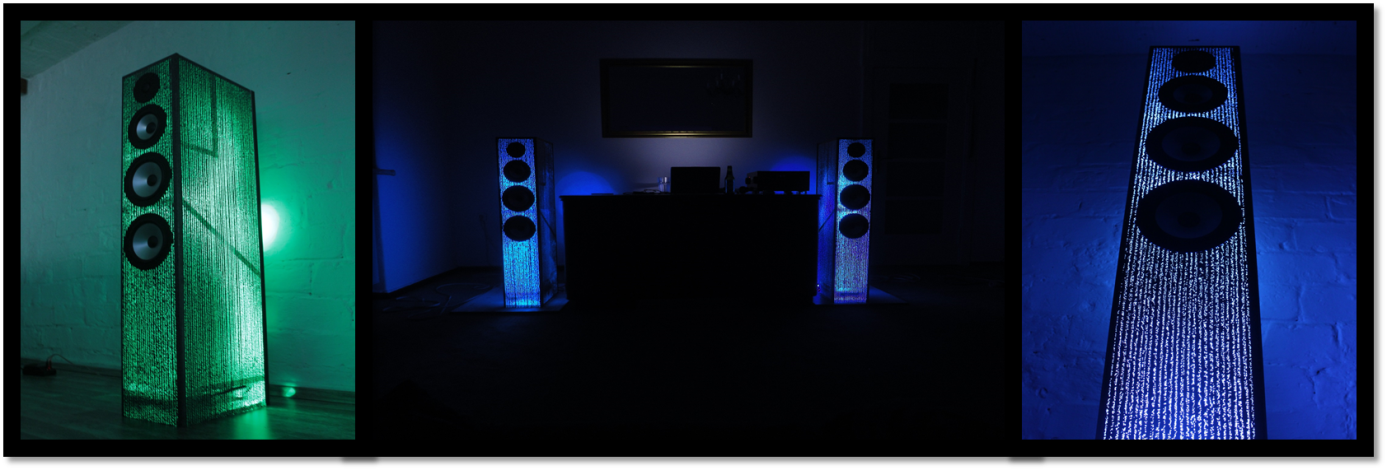 How to build speakers that light up to their own music