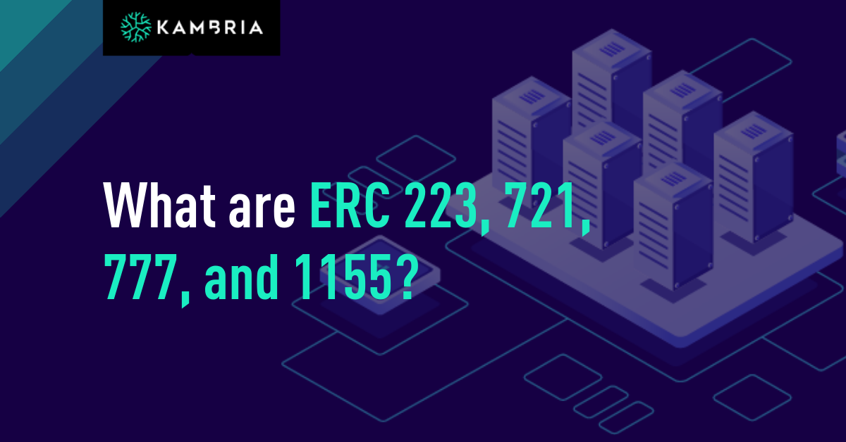 What are ERC 223, 721, 777, 1155?