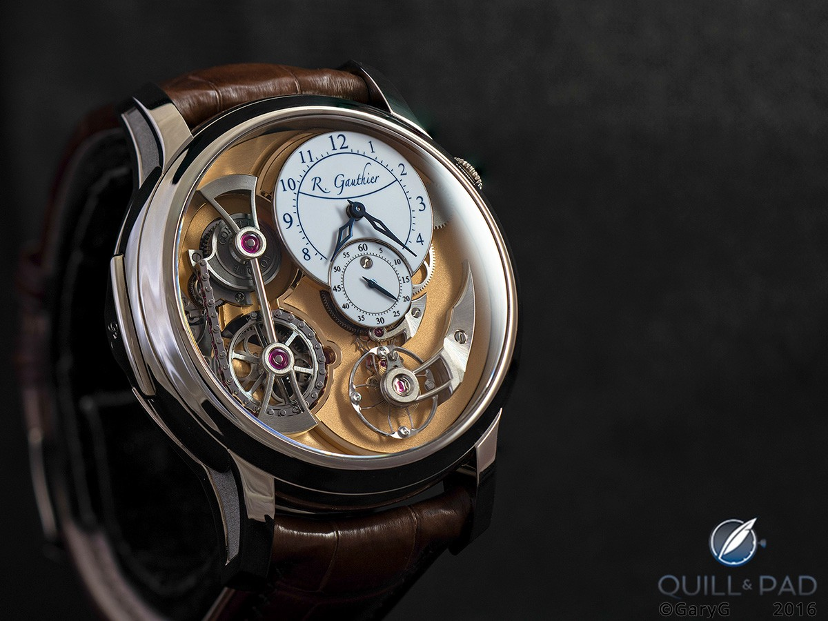 A lot to love: Romain Gauthier's Logical One in white gold