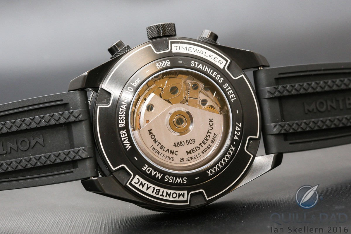 Montblanc TimeWalker Chronograph UTC from the back
