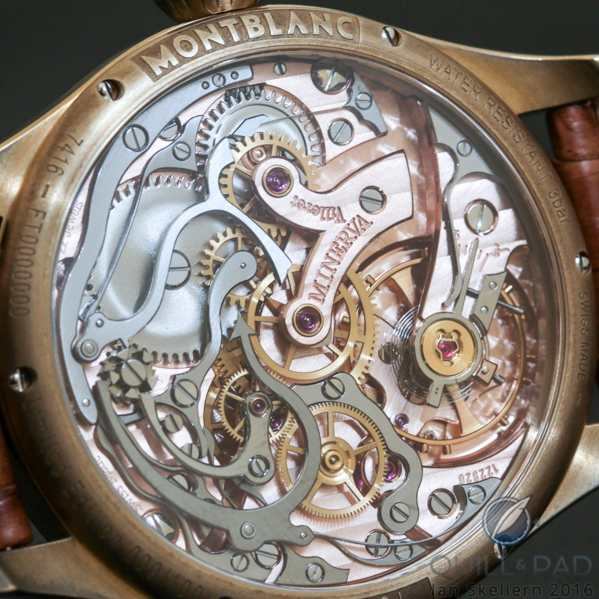 Beautiful movement of the Montblanc 1858 Chronograph Tachymeter