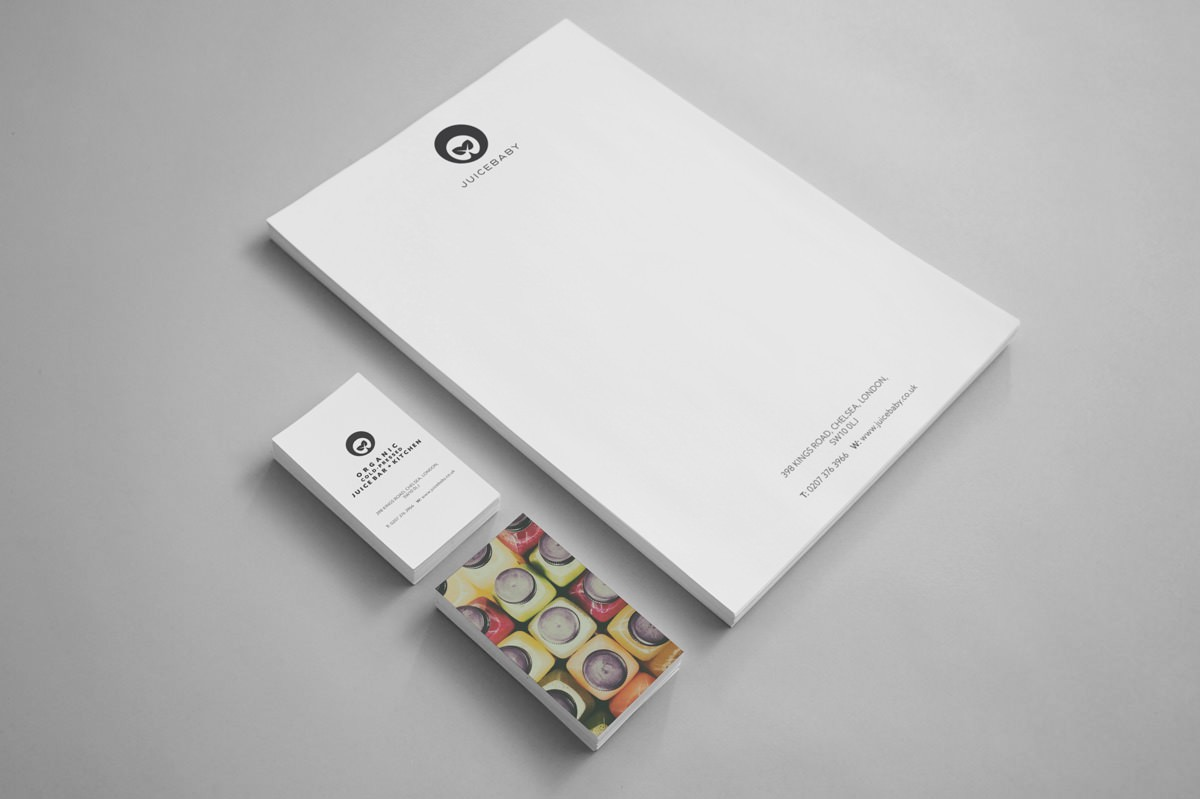 Business Stationery for Juicebaby by Inkbot Design