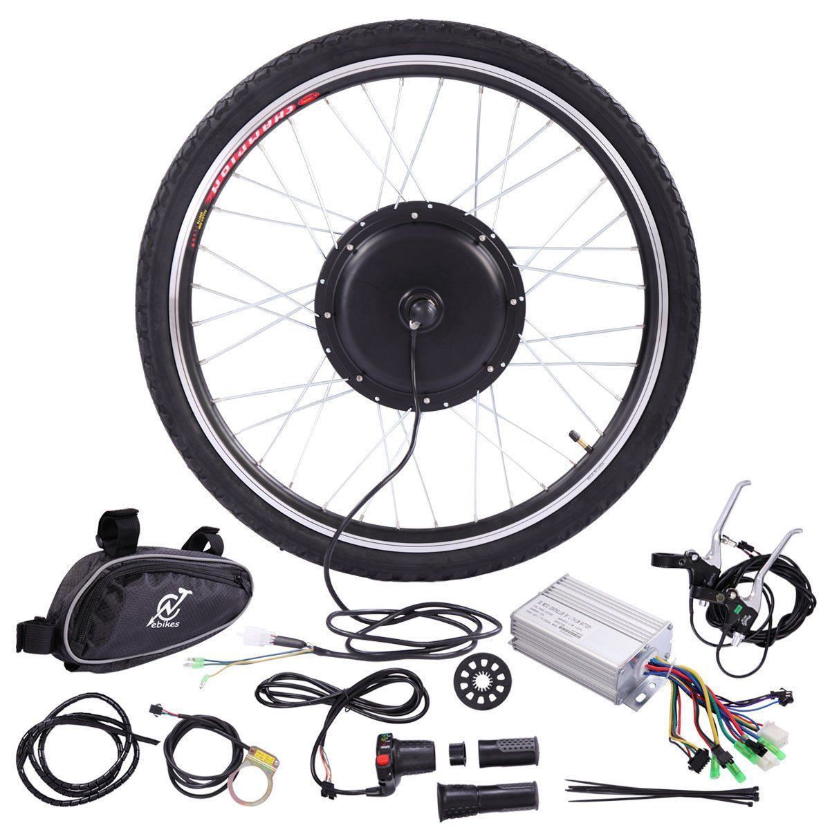 """ebikeling 36V 500W 26/"""" Geared Front Rear Electric Bicycle Conversion Kit"""