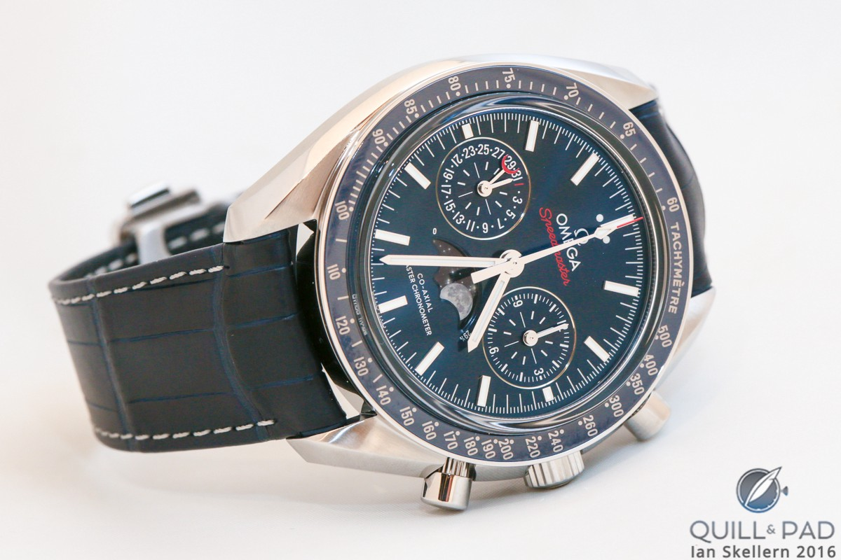 Omega Speedmaster Co-Axial Master Chronometer in blue