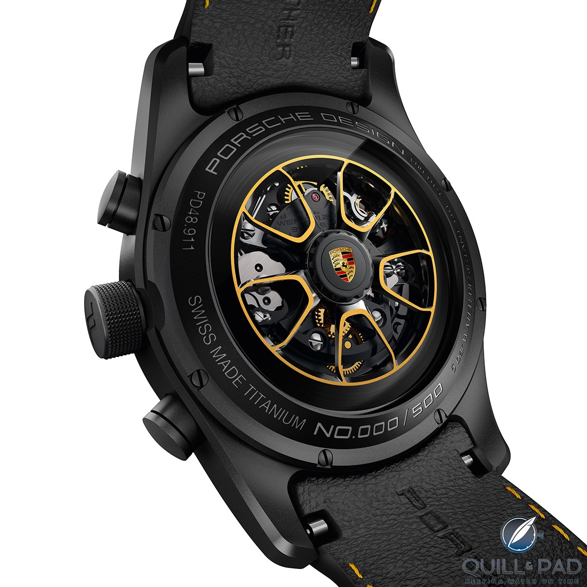 Rotor of the Porsche Design Chronograph 911 Turbo S Exclusive Series matching the car's wheels