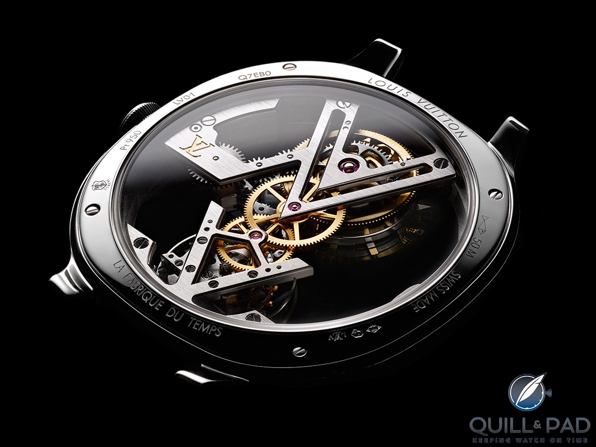 The contemporary movement architecture of this Louis Vuitton Flying Tourbillon is no impediment to it being Geneva Seal certified