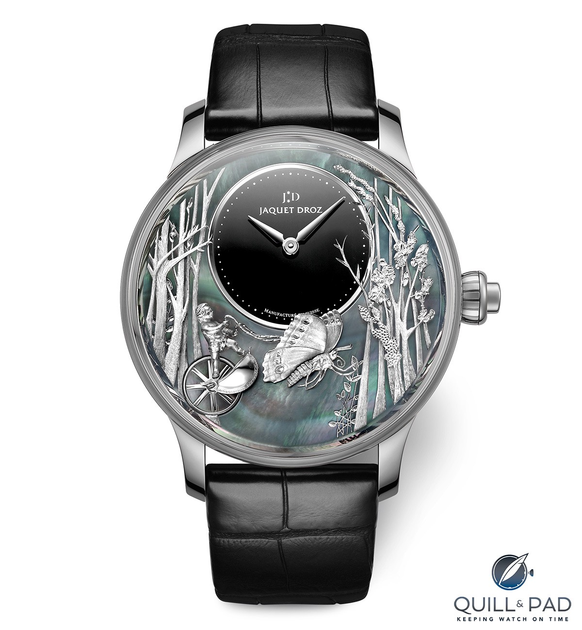 Jaquet Droz Loving Butterfly Automaton in white gold