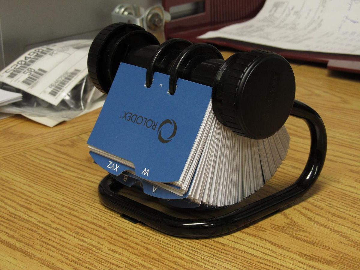The Rolodex - the ancestor of the media database