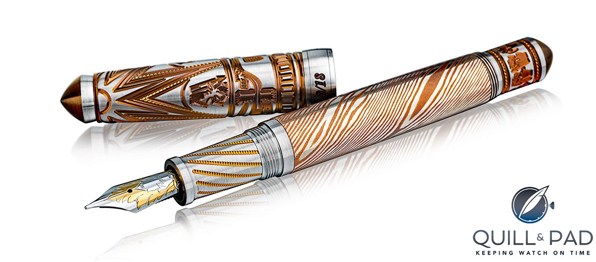 Grayson Tighe mokumé gané Dong Son fountain pen