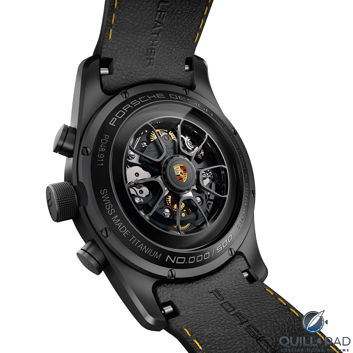 The rotor of the Porsche Design Chronograph 911 Turbo S Exclusive Series is also available all-black