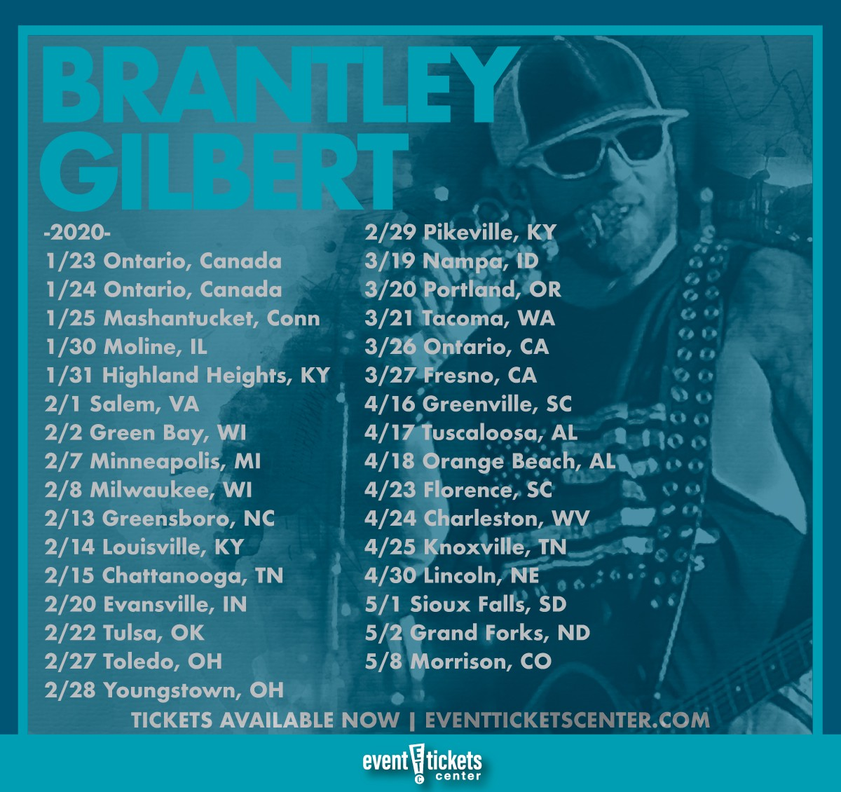 Brantley Gilbert Tour 2020.Brantley Gilbert Reveals 2020 Tour Event Tickets Center