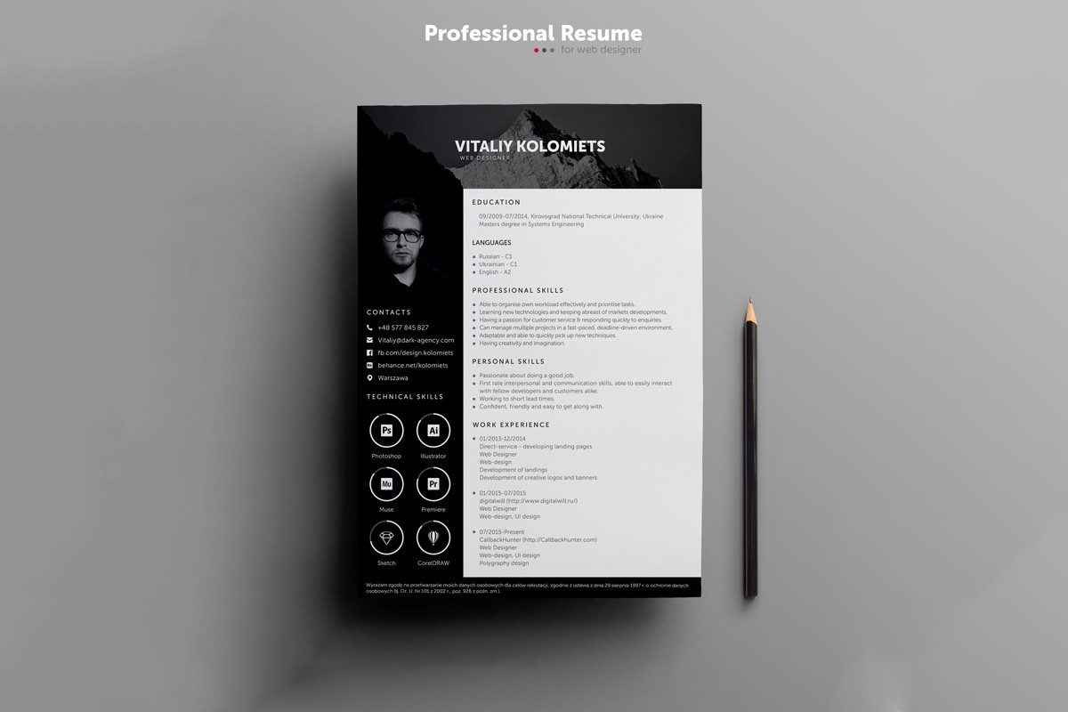 25 Beautiful Free Resume Templates For Designers In 2020 By Syed