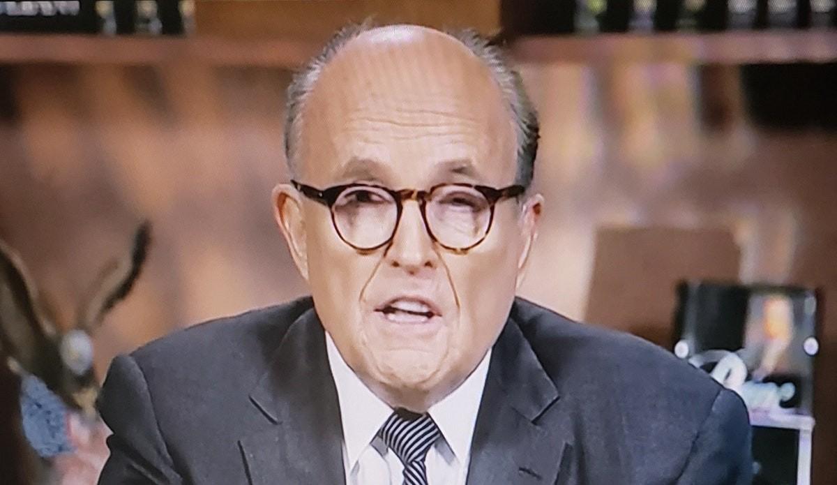 Rudy Giuliani speaking in an interview on Fox News.