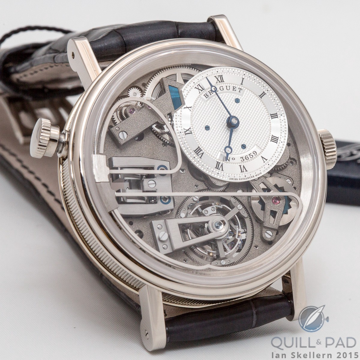 Breguet Reference 7087 Tradition Répétition Minutes Tourbillon: those unusually curved bars dial side are the repeater gongs