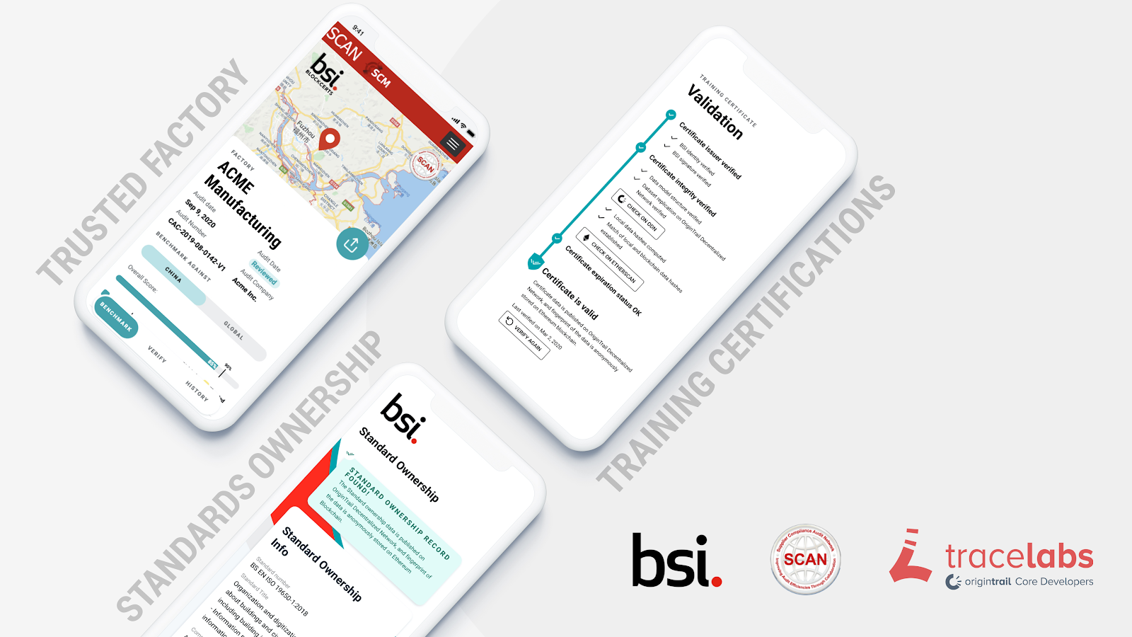 In collaboration with Trace Labs, BSI is now launching a series of blockchain-based solutions