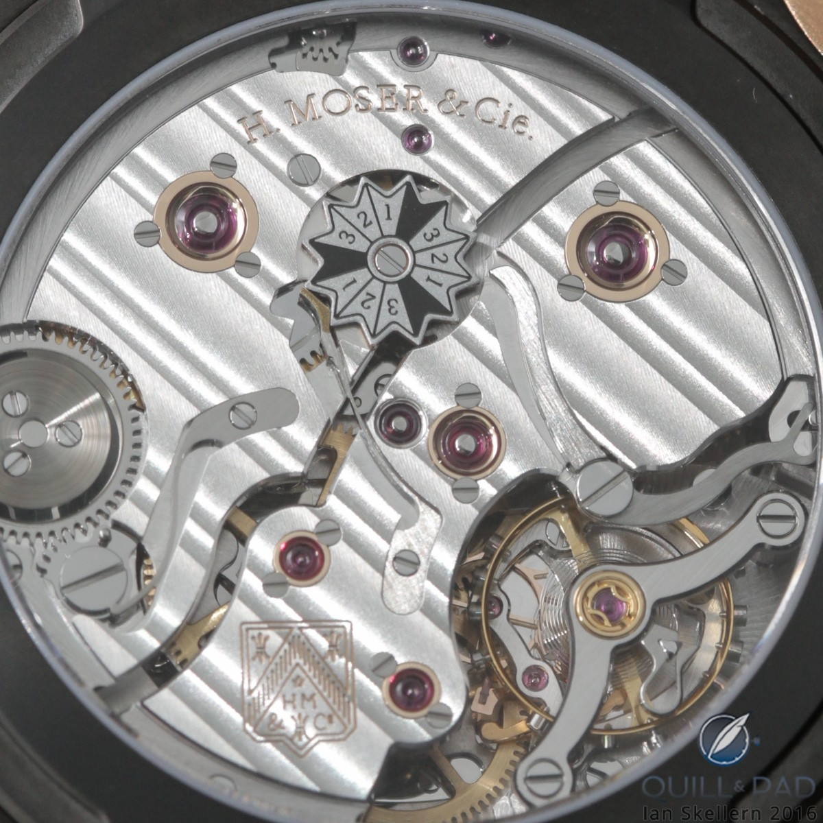 A close look at the movement of the H. Moser & Cie Endeavour Perpetual Calendar