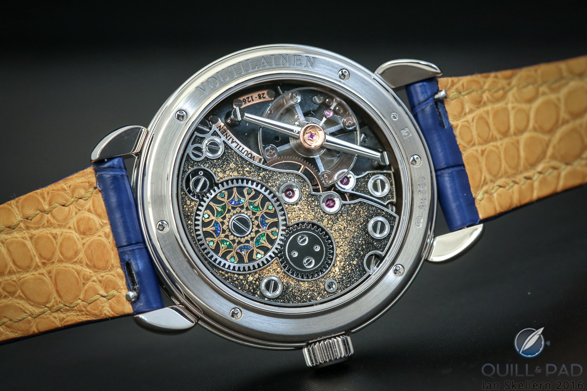 The movement of Kari Voutilainen's Kaen is as superlatively decorated as the dial