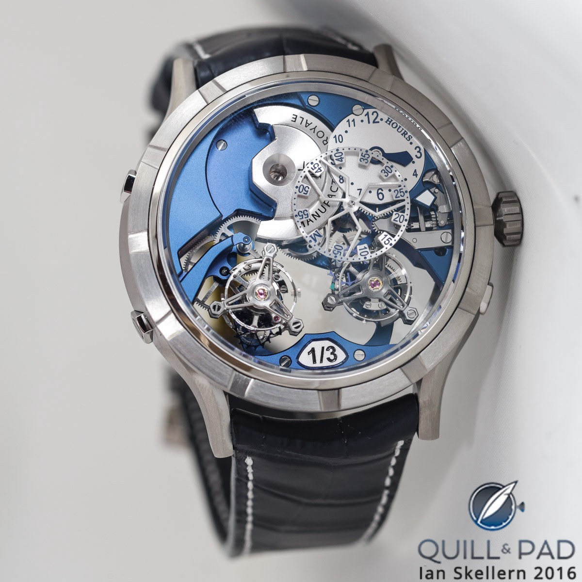 Manufacture Royale 1770 Micromégas Revolution in titanium with blue movement