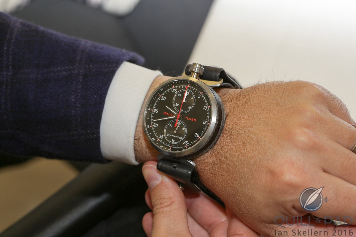 TimeWalker Chronograph Rally Timer Counter Limited Edition 100 on the wrist