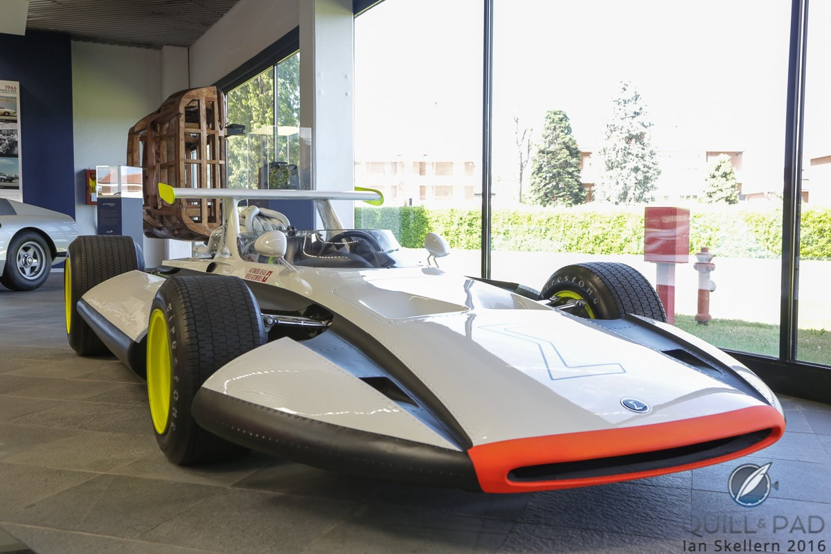 The Pininfarina Sigma Grand Prix car from 1969 was a test bed of innovative safety features for the time