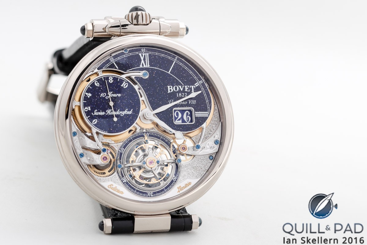 Bovet used aventurine elements to emphasize the beauty of its Virtuoso VIII from 2017