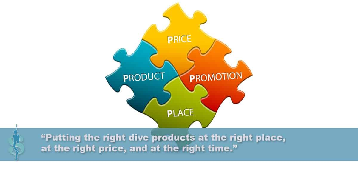 Product, Place, Promotion, and Price in the Dive Industry