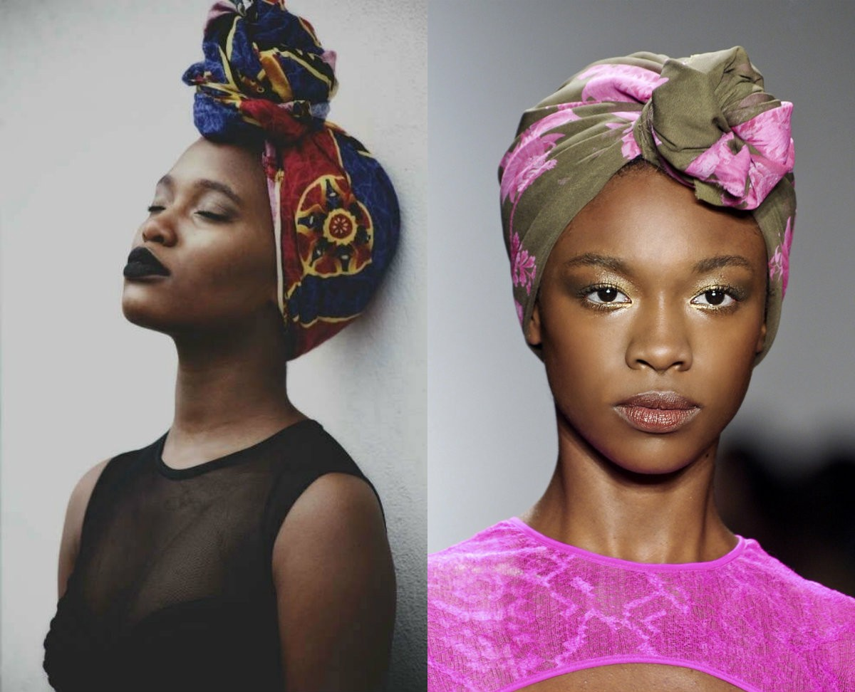 Black Women Hairstyles With Head Wraps To Show Off By Picadoo Medium