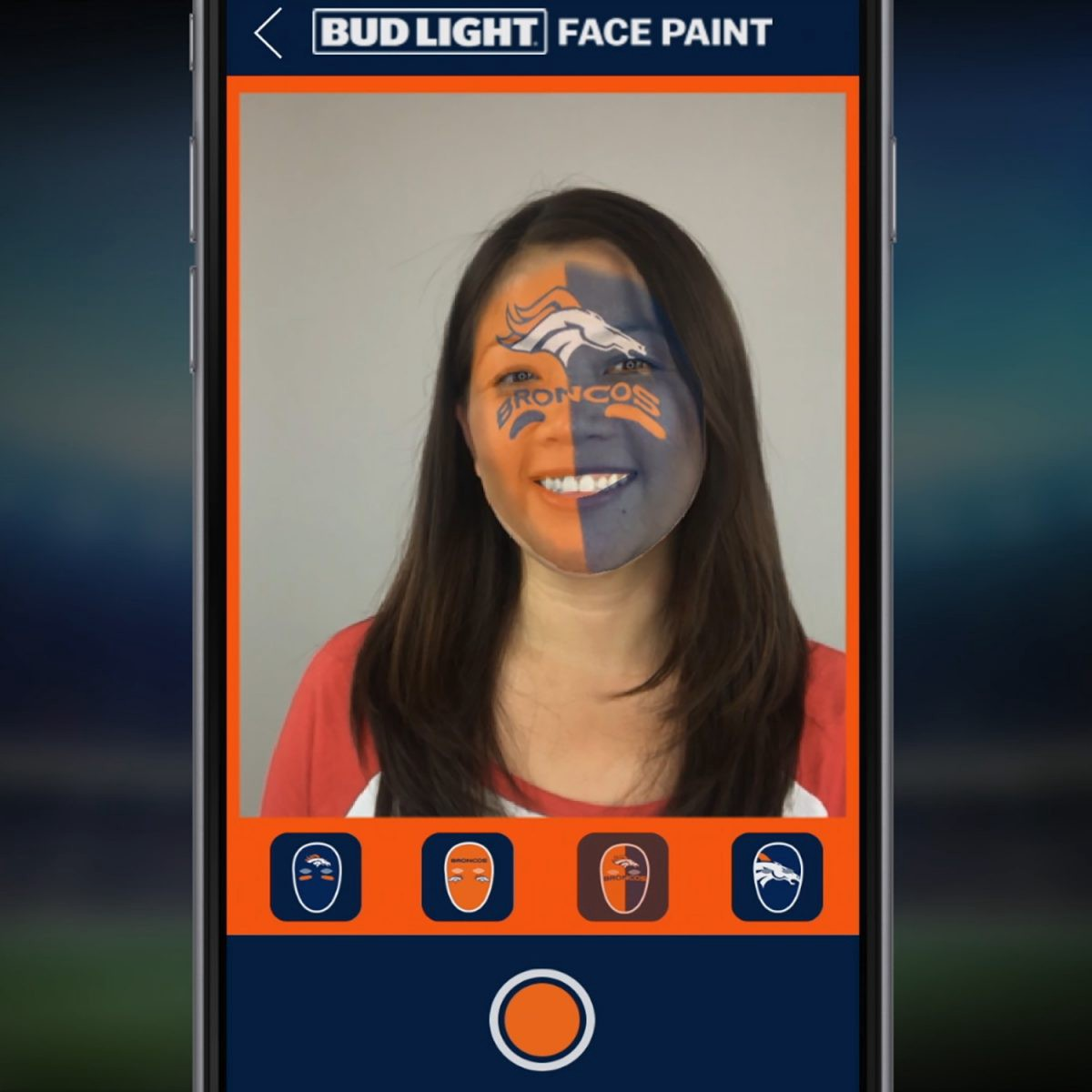 This Nfl App Lets Fans Paint Their Faces With Augmented Reality By Alice Bonasio Medium