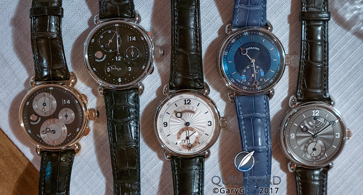 Table Shot: Kari Voutilainen Watches with 2017 SIHH Introductions at Right