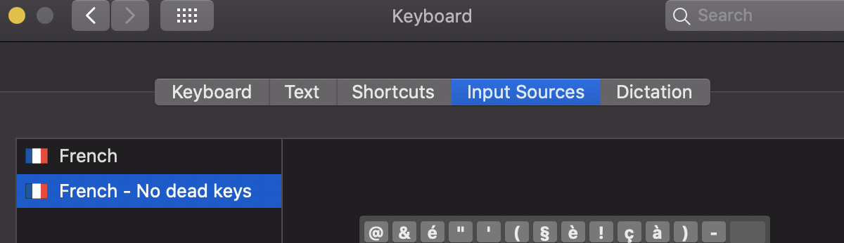 Input source screen
