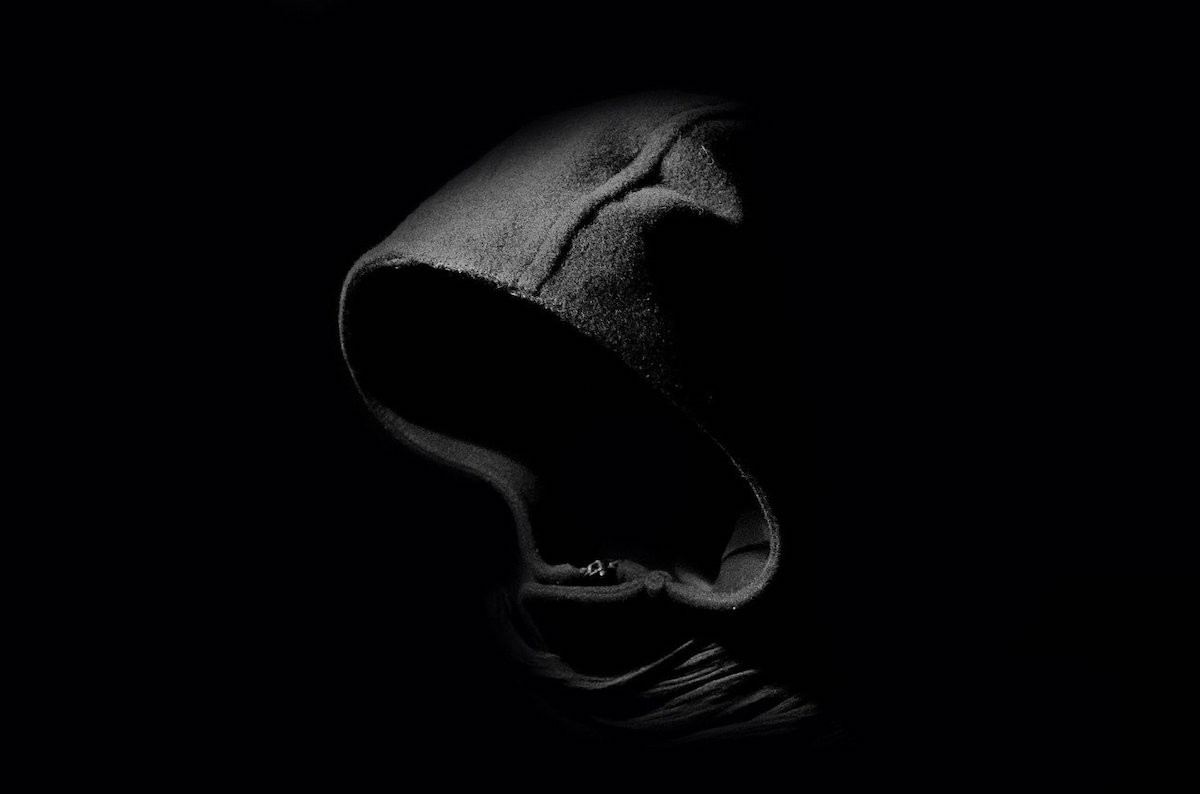 A hooded shirt. You cannot see the person's face.