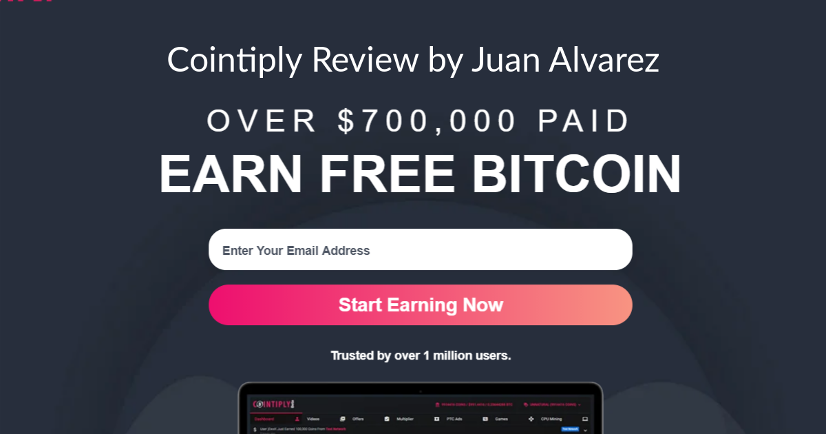 My Review of Cointiply by Juan Alvarez