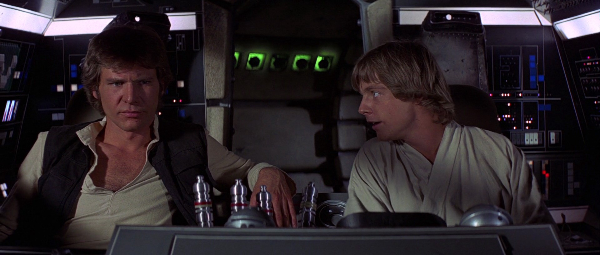 Han and Luke in the Millenium Falcon