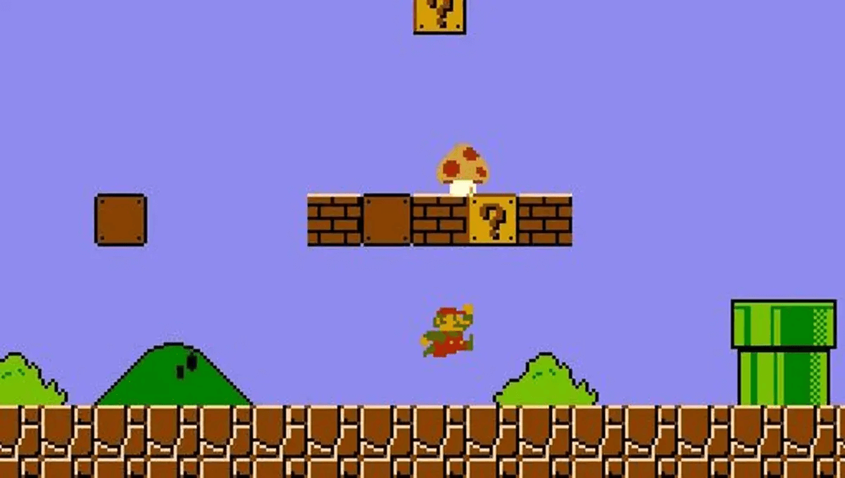 A screenshot of Super Mario Bros. Creating courses with CurrikiStudio are this intuitive!