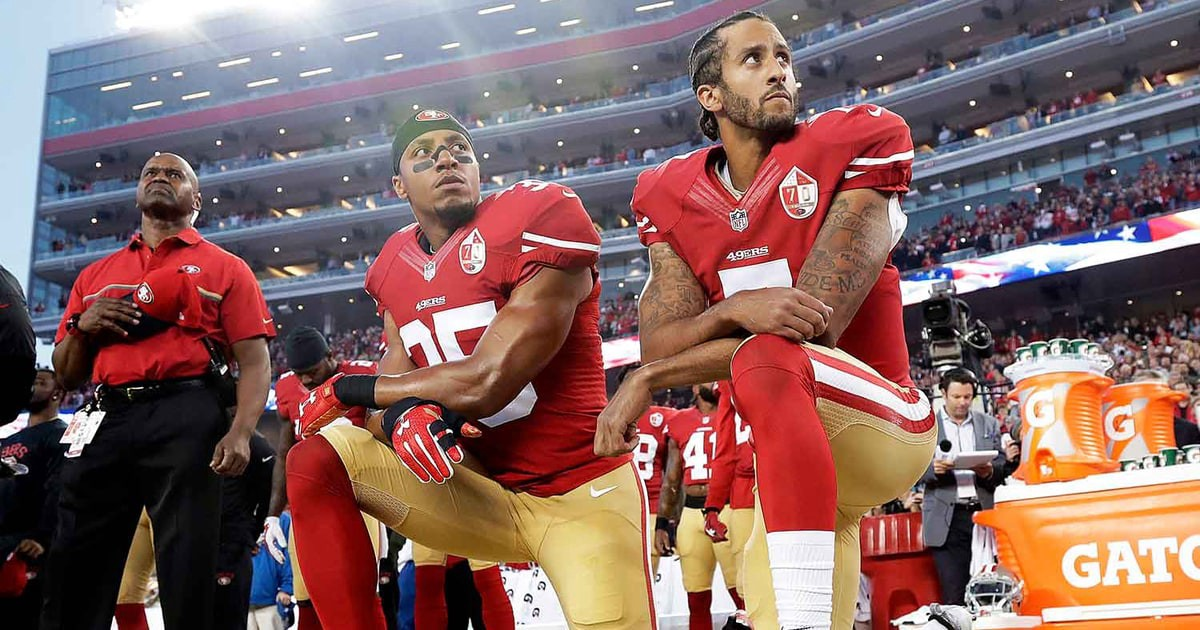 buy popular f3767 6169a 20 Things To Consider About Colin Kaepernick Kneeling During ...