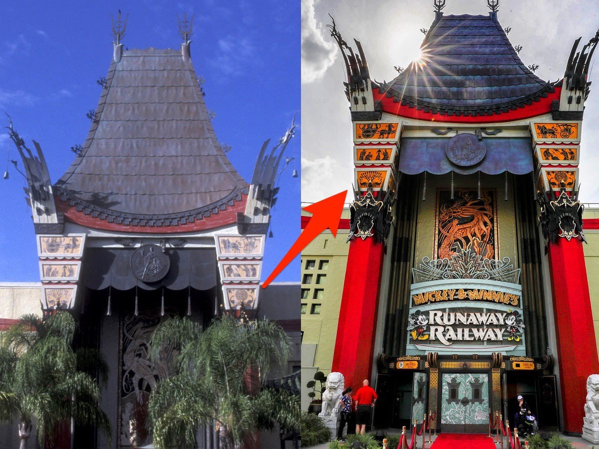 The Great Movie Ride was replaced with Mickey & Minnie's Runaway Railway.