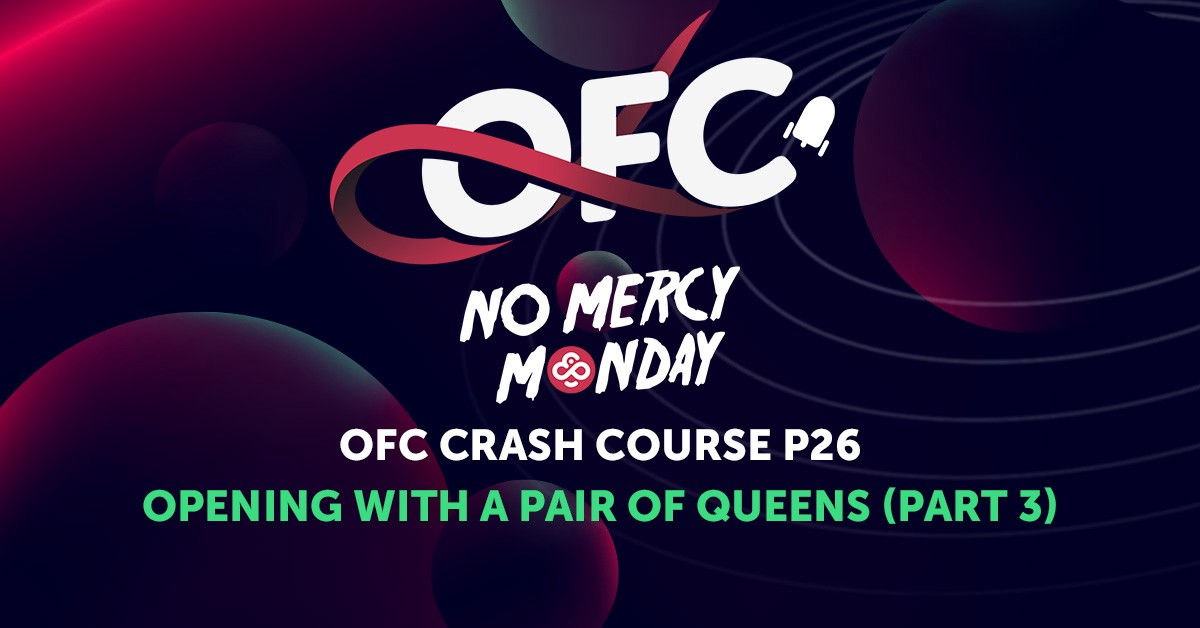 Open Face Chinese Poker Strategy—Opening with a pair of Queens