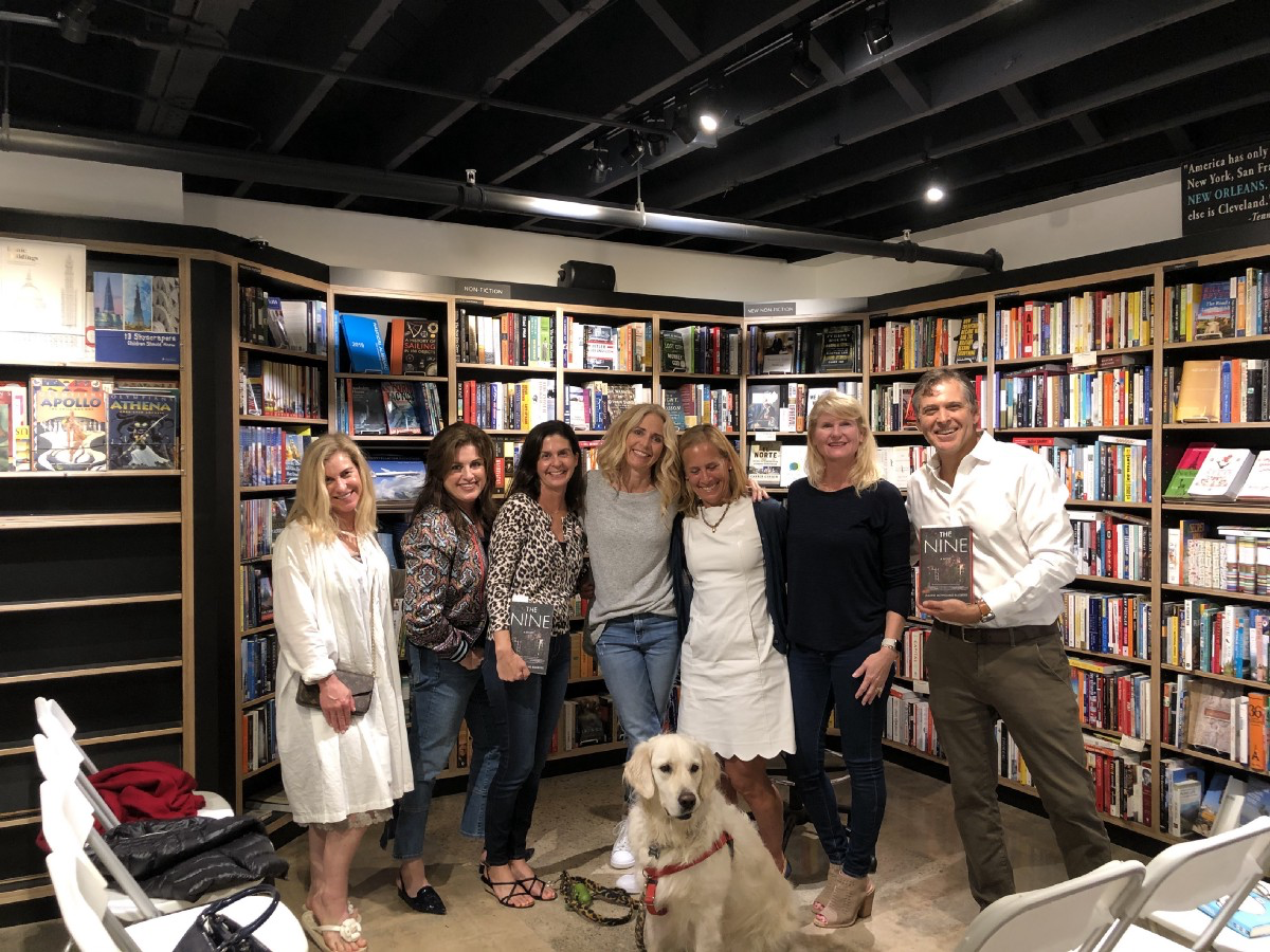 Joined by NHHS '83 classmates at the Lido Village Bookstore