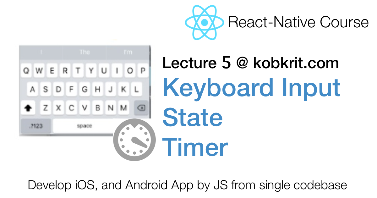 React Native 5] State and Keyboard Input By Making BMI