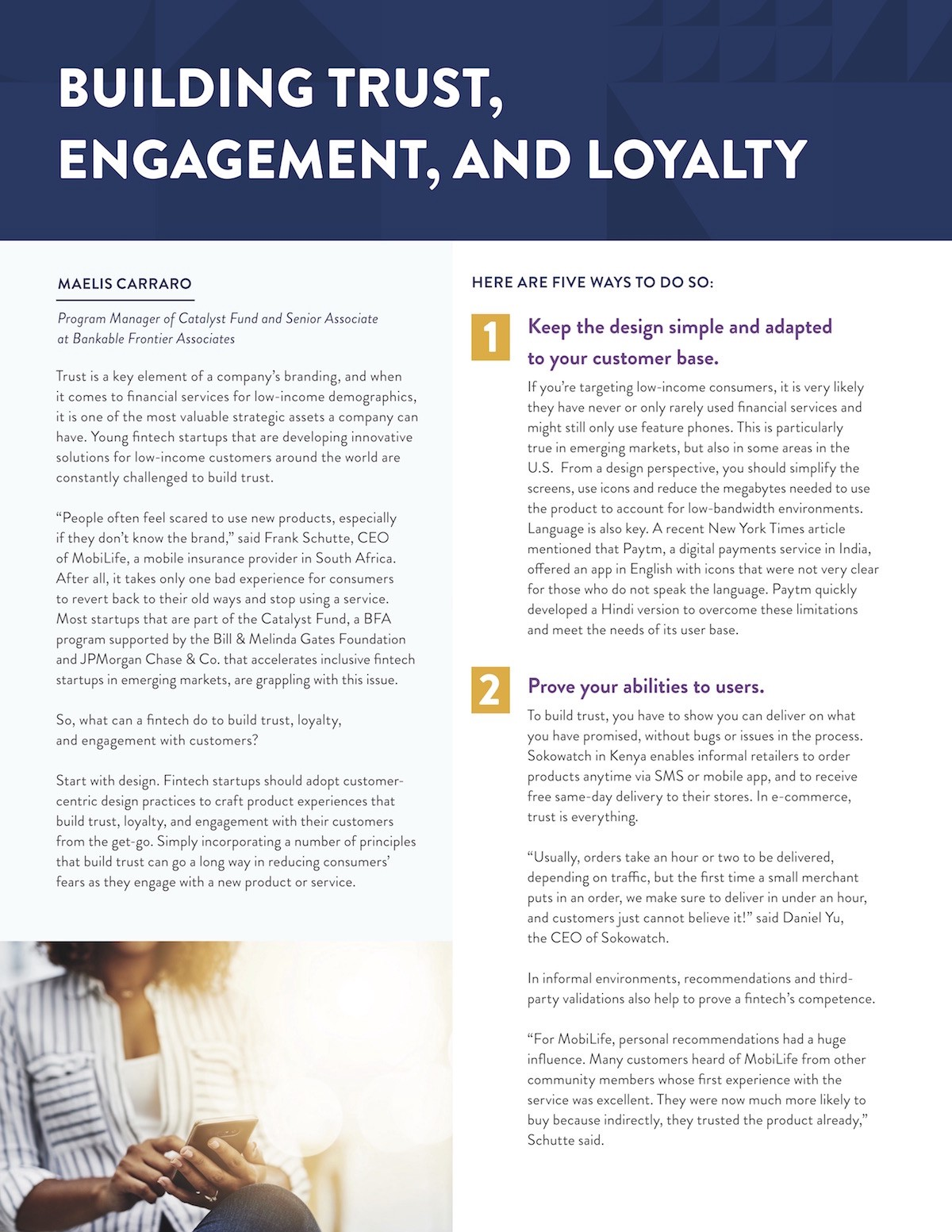 Building Trust, Engagement, and Loyalty: Five Ways to