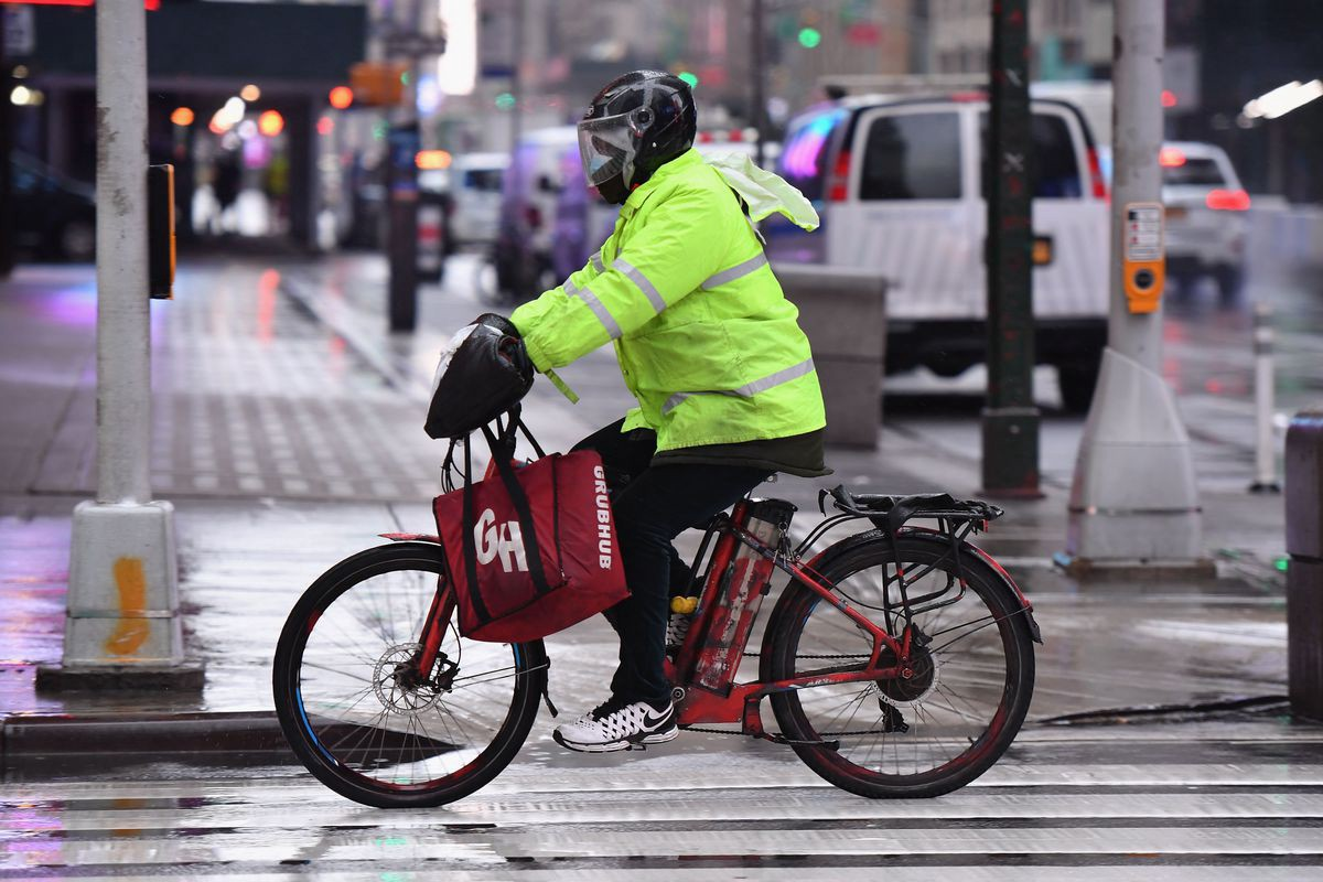 electric bike used for food delivery in new york