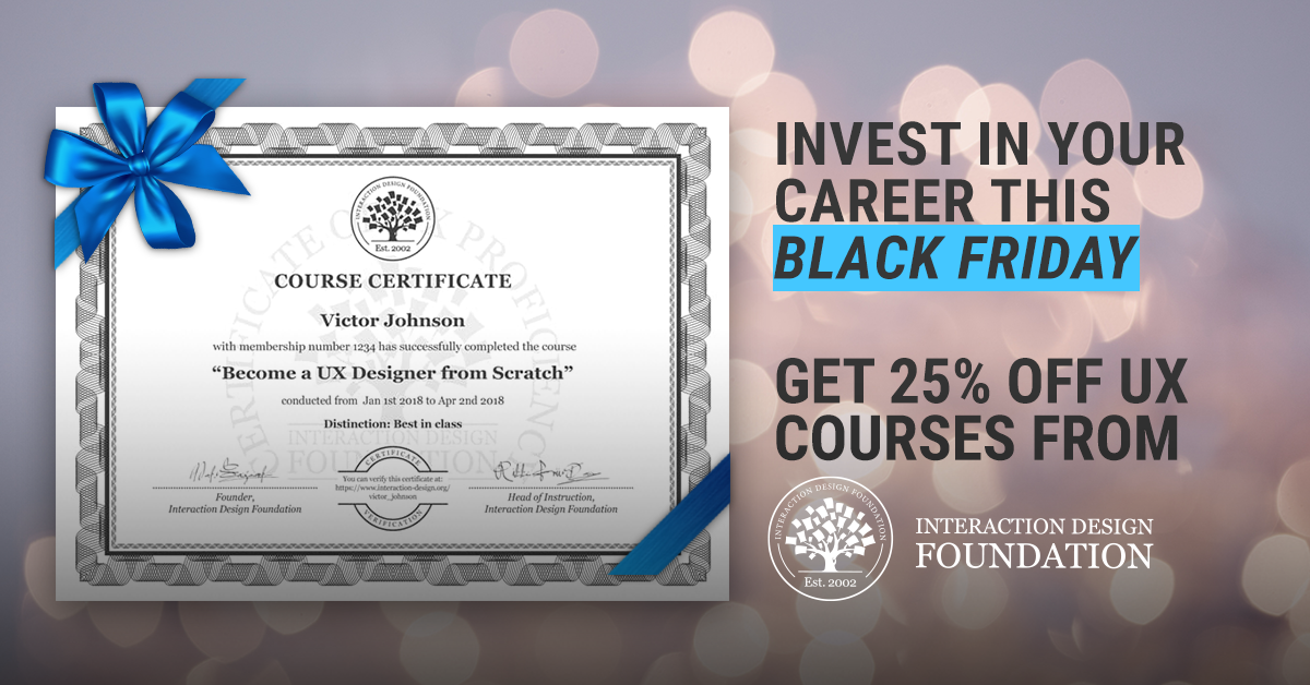 25% off on best UX Courses from Interaction Design Foundation