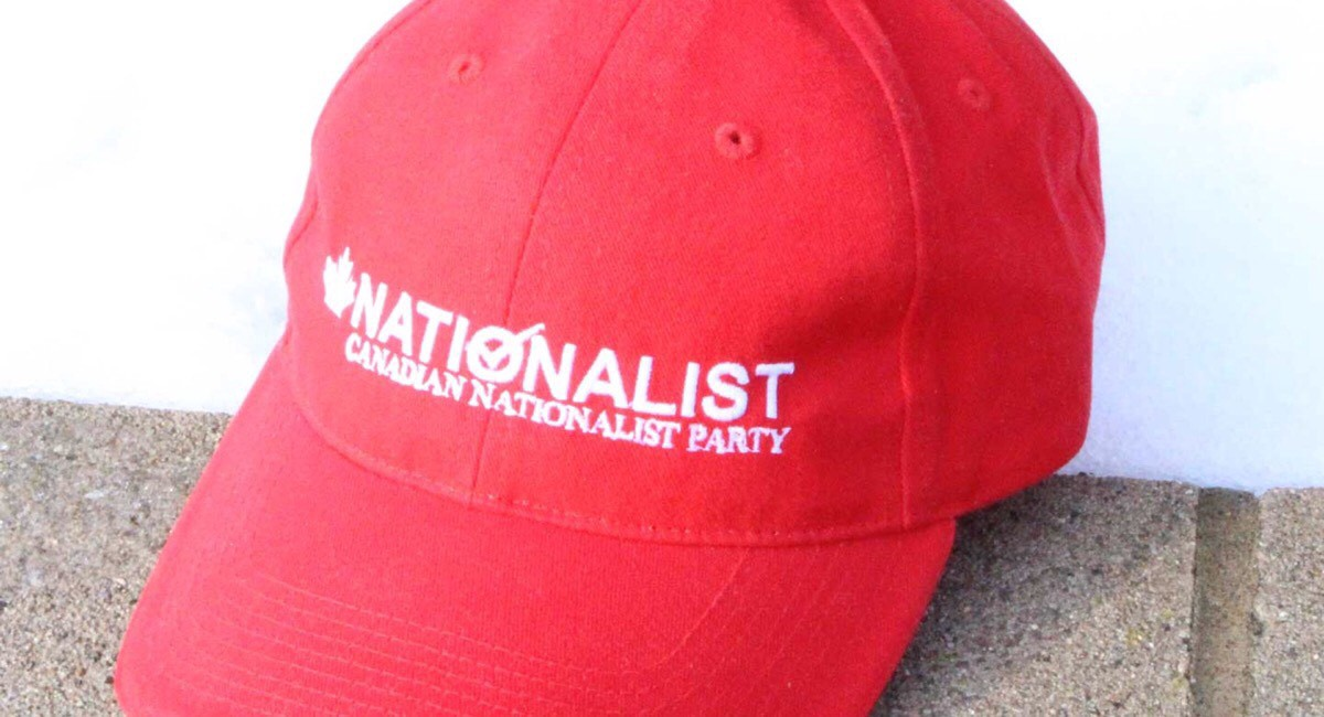A Canadian Nationalist Party red baseball cap.