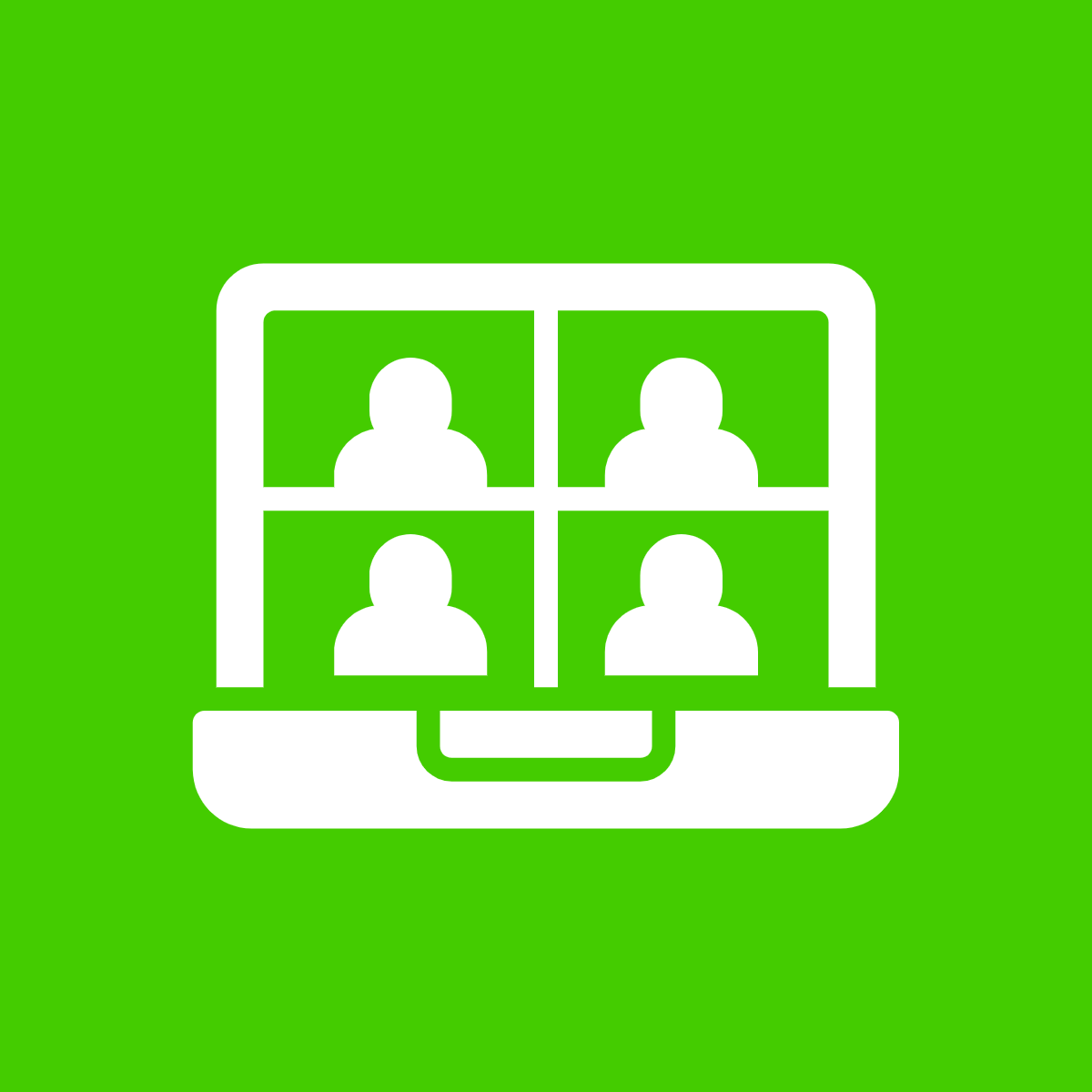 Graphic illustration of 4 people on a video call